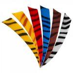 Die Feder in Shield Form mit zebra Muster